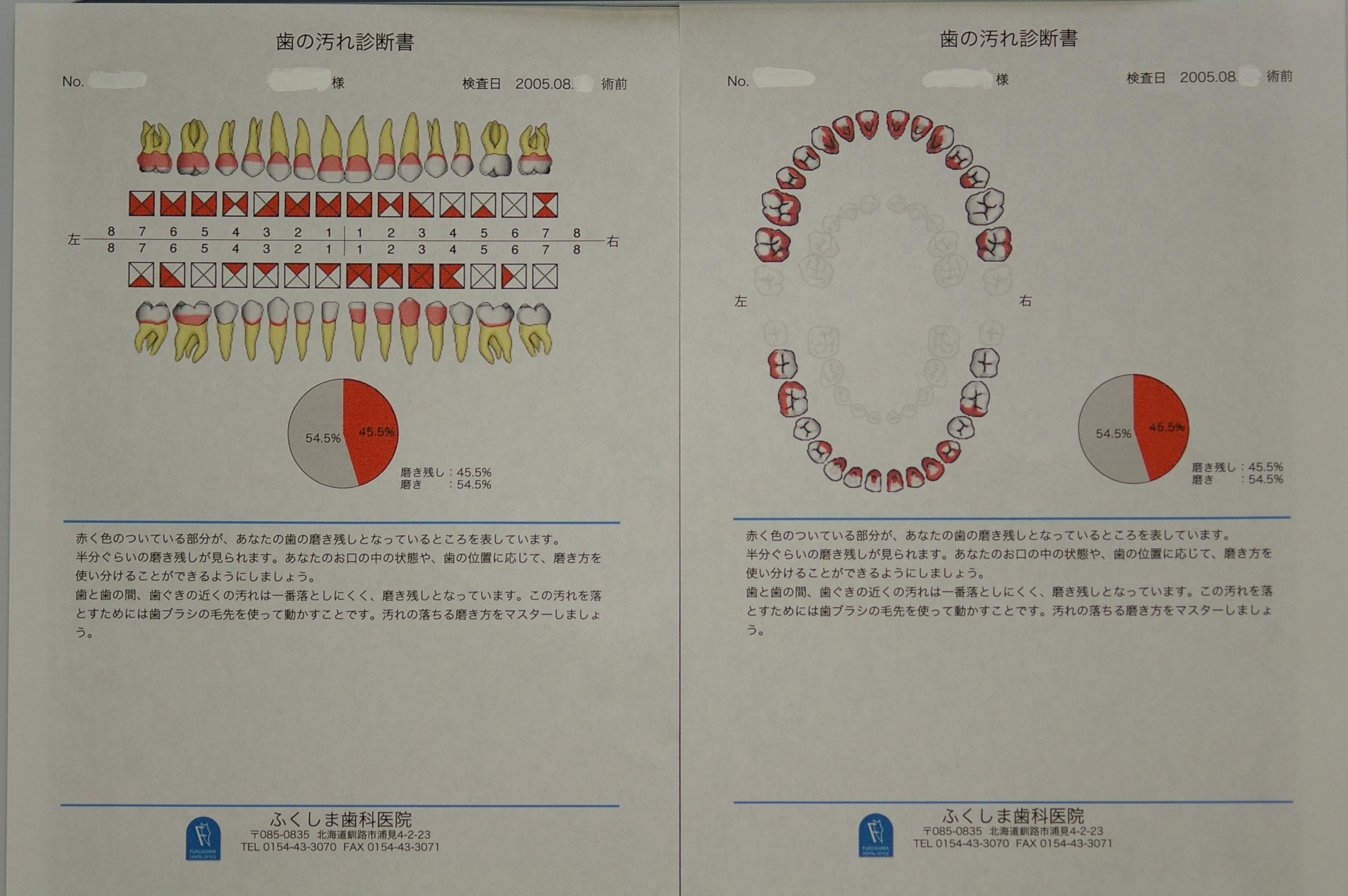 歯の検査結果の診断書を印刷して配布サービス